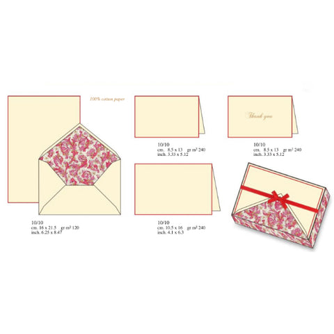 Red Florentine Pattern | Rossi 1931 Italian Stationery