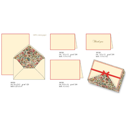 Art Nouveau Flower Pattern | Rossi 1931 Italian Stationery
