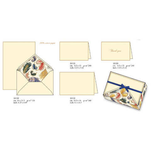 Feathers Pattern | Rossi 1931 Italian Stationery