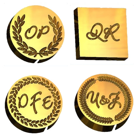 Bickley Script monogram wax seal stamp letterseals.com