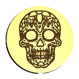 Candy Skull 2 Wax Seal Stamp