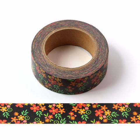 Chalkboard Flowers Washi Tape