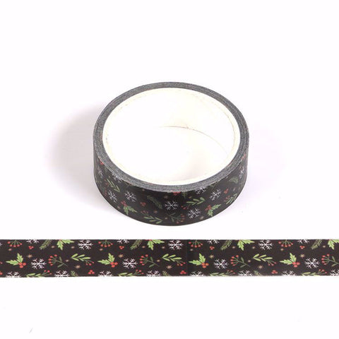 Chalkboard Holly Washi Tape