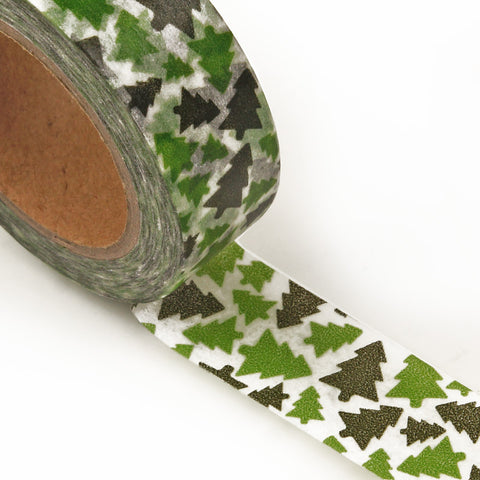 Green Trees Washi Tape