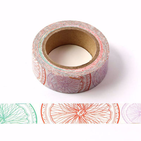 Citrus Slice Rainbow Washi Tape