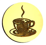 Retro Coffee Cup Wax Seal Stamp