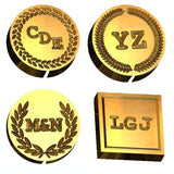 Courier New monogram wax seal stamp letterseals.com