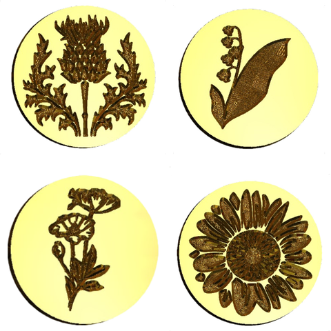 Flower Floral Wax Seal Stamps LetterSeals.com