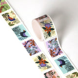 Folk Art Nature Postage Themed Washi Tape
