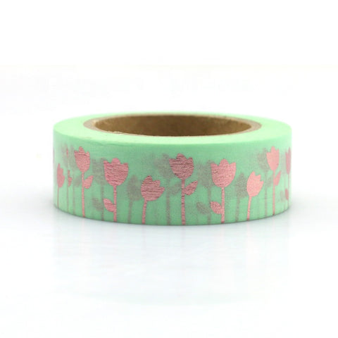 Gold Tulip Washi Tape