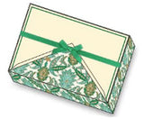 Green Arabesque Note Cards | Rossi 1931 Italian Stationery