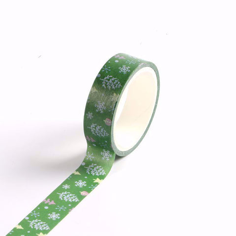 Green Winter Forest Washi Tape