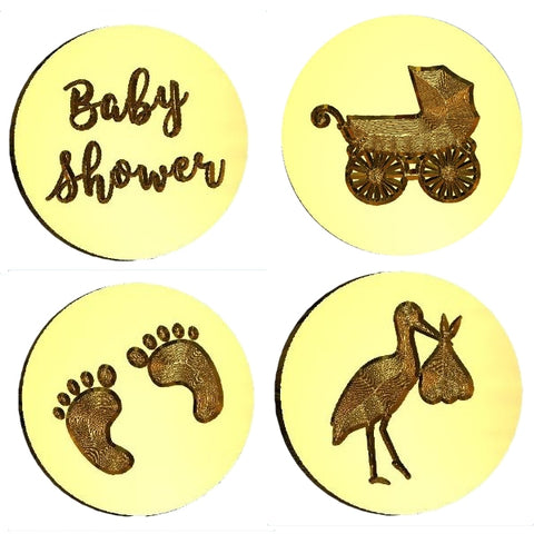 Baby Themed Design Wax Seal Stamps - 18 Design Choices