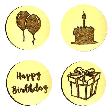 Birthday Themed Design Wax Seal Stamps - 15 Design Choices