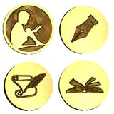 Books, Reading & Writing Wax Seal Stamps - 12 Design Choices