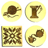 Cozy: Knitting, Sewing, Coffee & Tea Design Wax Seal Stamps - 28 Designs