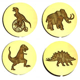 Dinosaur wax seal stamp letterseals.com