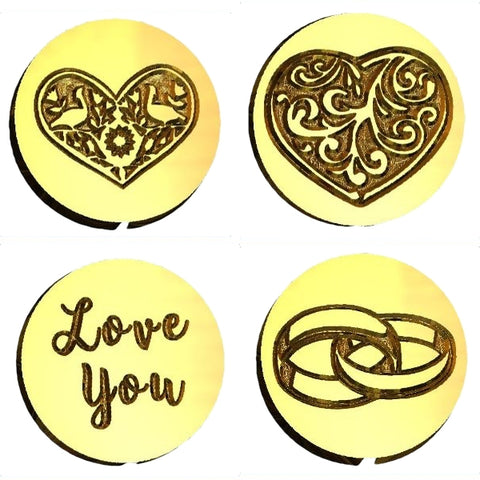 Hearts wedding love wax seal stamps letterseals.com