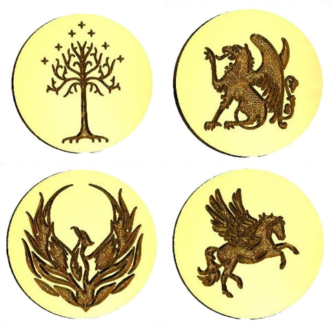 Wizards & Fantasy Wax Seal Stamps - 37 Designs