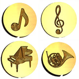 Musically Themed Design Wax Seal Stamps - 10 Designs
