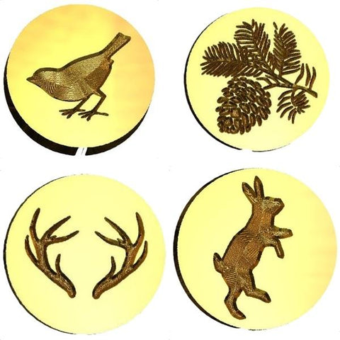 Animals, Birds, Flowers, Tree, Nature wax seal stamps letterseals.com