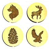 ☀️ Outdoor & Wildlife Design Wax Seal Stamps - 54 Designs