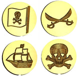 Pirate Themed Wax Seals Stamps - 15 Design Choices