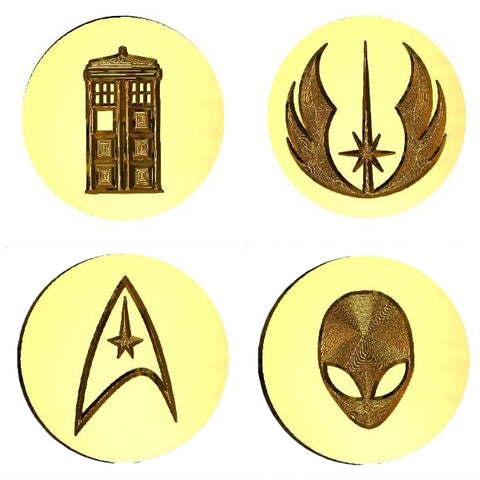 Sci-Fi + Comic Book Design Wax Seal Stamps - 30+ Design Choices