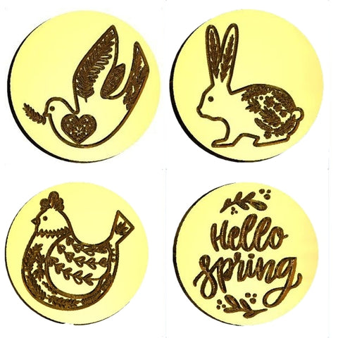 ☀️ Spring Themed Wax Seal Stamps - 42 Images