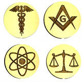 Symbols & Icons - Science, Religion, Philosophy Design Wax Seal Stamps - 40+ Design Choices