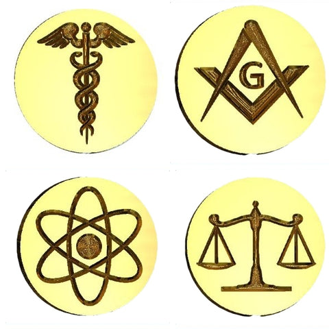☀️ Symbols & Icons - Science, Religion, Philosophy Design Wax Seal Stamps - 40+ Designs