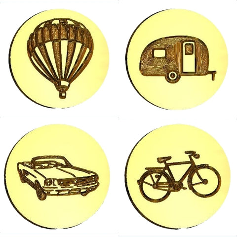 Transportation Design Wax Seal Stamps - 50 Design Choices