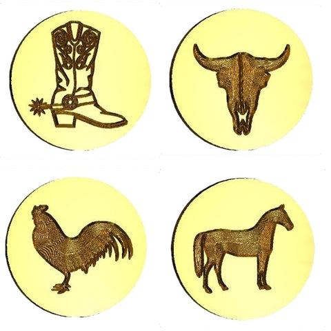 Western Themed Wax Seal Stamps - 50 Designs