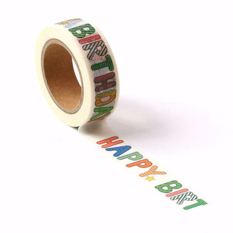 Happy Birthday Washi Tape Letterseals.com