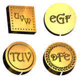 Harrington monogram wax seal stamp letterseals.com