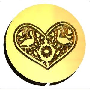 Distlefink Heart wax seal stamp letterseals.com