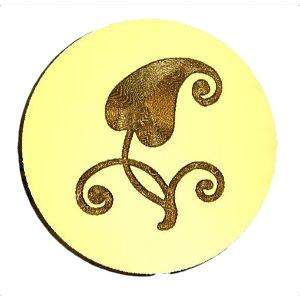 Heart Leaf Wax Seal Stamp LetterSeals.com