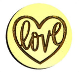 Heart Love valentine wax seal stamp