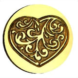 Ornate Heart Wax Seal Stamp LetterSeals.com