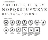 Garamond Font Initial wax seal stamps letterseals.com