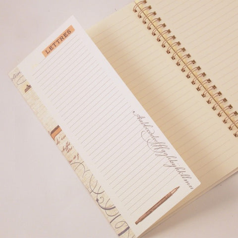 Letters Spiral Wire Bound Notebook - Rossi 1931