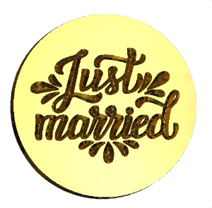 Just Married Wax Seal Stamp