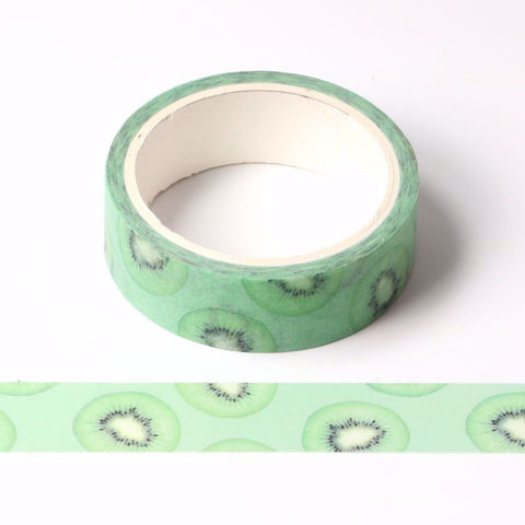 Sliced Kiwi Fruit Washi Tape Letterseals.com