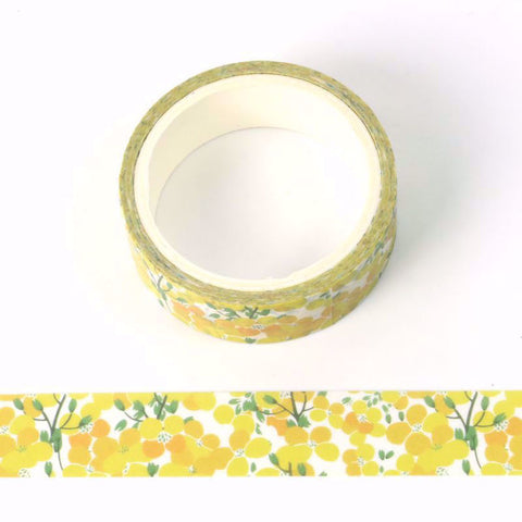 Yellow flower washi tape letterseals.com