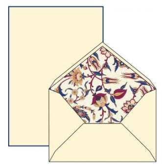 Maroon Arabesque Pattern | Rossi 1931 Italian Stationery