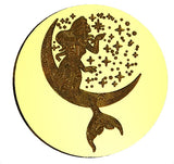 Mermaid + Moon Wax Seal Stamp