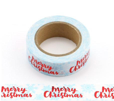 Merry Christmas Washi Tape Letterseals.com