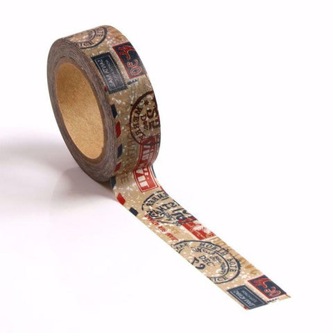 North Pole Santa Postage Washi Tape Letterseals.com