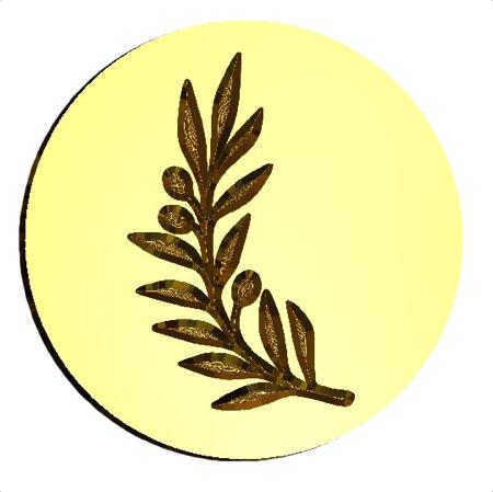 Olive Branch Wax Seal Stamp LetterSeals.com