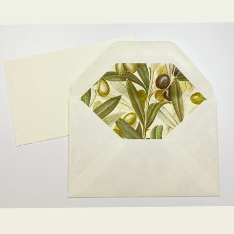Olive Note Cards | Rossi 1931 Italian Stationery